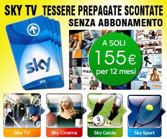 Abbina a SKY TV un pacchetto tra Cinema, Sport o Calcio e  buona visione