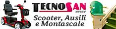 Tecnosan Service s.r.l.  Montascale, Carrozzine, Scooter, Poltrone, Ausili
