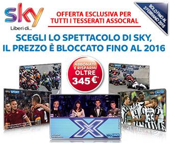 SKY +1 Pacchetto  (tra Cinema, Sport o Calcio) a � 24,90/mese per 16 mesi