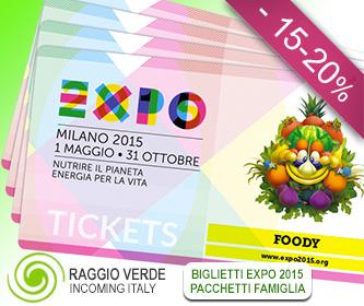 Biglietti EXPO Milano 2015 - Prenota il viaggio o il Tour Enogastronomico