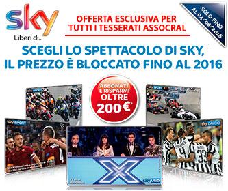 Sky TV + Sky Famiglia + Sky HD + Sky Box Sets + Sky Sport a soli 29,90�