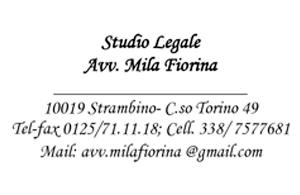 STUDIO LEGALE  Avv. Fiorina Mila