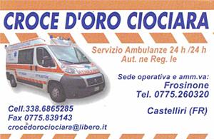 AMBULANZE PRIVATE - CROCE D'ORO CIOCIARA