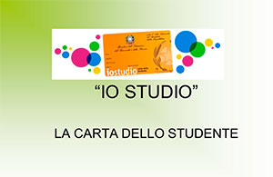 IoStudio – La Carta dello Studente